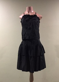 Two-Piece Black Acetate Evening Dress