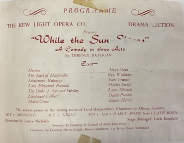 While the Sun Shines / by Terence Rattigan