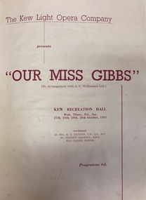 Our Miss Gibbs / by Lionel Monckton & Ivan Caryll