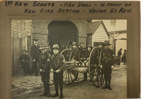 Fire Drill, 1st Kew Scouts, 1911