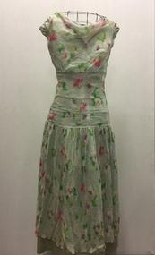Floral Georgette Summer Dress, 1930s