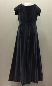 Grey Velvet Evening Dress, 1960