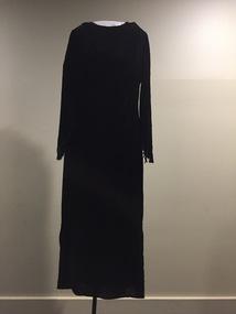 Black Silk Velvet Evening Dress