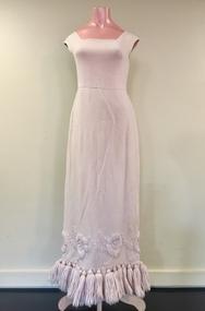 Pink Wool Evening Dress