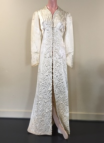 White Satin Quilted Bridal Coat, 1939