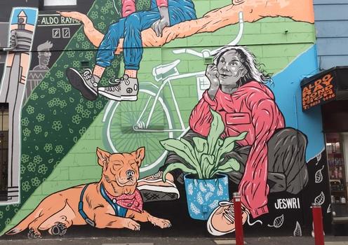 Series: Street Art, Brougham Street, Kew