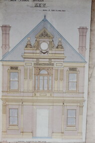Architectural Drawing: New Public Offices, Kew