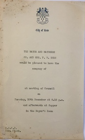 1986.4.32 Invitation to a Meeting of Kew Council