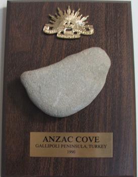 Anzac Cove, Gallipoli. Rock from beach of landings.