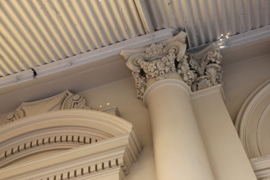 Photograph - Colour, Architectural Features on the Ballarat Old Colonists' Hall Balcony, 2018, 24/01/2018