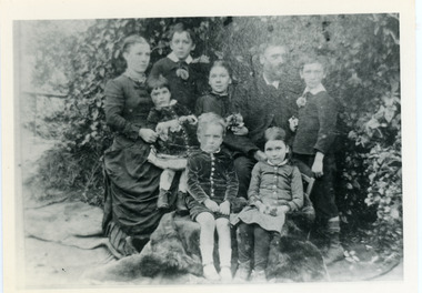 Photograph, Francis Matthew Child and Family, c1886