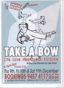 Program Photos Poster Youth, Take a Bow written and directed by Luke Dixon