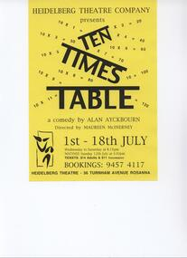Program Photos Newsletter Poster Articles Memorabilia, Ten Times Table by Alan Ayckbourn directed by Maureen McInerney