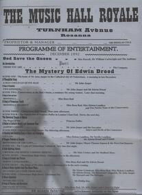 Program PhotosReview Newsletter Poster, The Mystery of Edwin Drood - book, music and lyrics by Rupert Holmes
