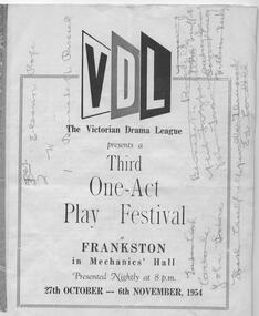Program, Various Heavens by E. Ross Williamson directed by Tony Doogood