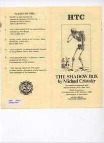 Program Photos Reviews, The Shadow Box by Michael Cristofer by special arrangement with Samuel French (Aust.) Pty Ltd directed by Ian Brown