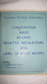 Booklet, V.R.A. Constitution Rules & By Laws