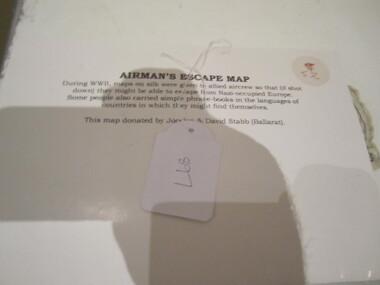 Cloth Map - Airman's Escape Map France, Belgium & Holland