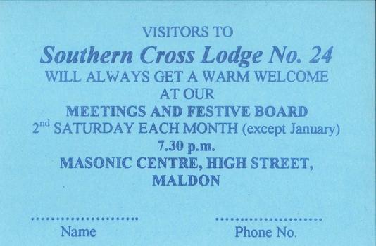 Freemasons Victoria - Southern Cross Lodge No  24 (Maldon