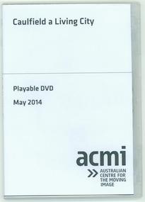 "DVD, Caulfield Film Society et al, ""Caulfield a living City"", 1963"