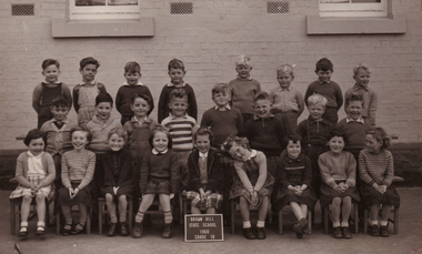 Photograph - Black and White, Grade 1 at Brown Hill State School, 1960