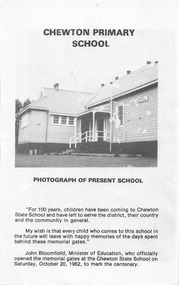 Book, Chewton Primary School: 100 Year anniversary