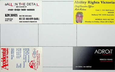 Unions, business and other cards, Various