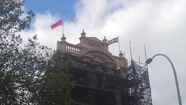 Photograph - Photographs: New Flag Poles - Trades Hall - 2018, 26 April 2018