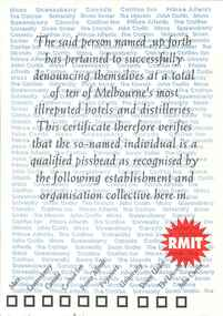Pub crawl certificate 90s
