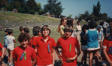 Photograph, Krongold brothers at Sports Day, c. 1980s, 1980s