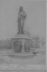 Card Box Photographs, Peter Lalor Statue in Sturt Street, Ballarat 1889