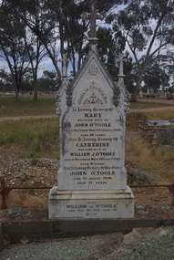 Photograph - Colour, Clare Gervasoni, O'Toole Headstone in the Inglewood Cemetery, 2017, 07/10/2017