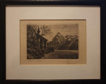 Print - Etching, [Tells Villa?] by [Riny?]