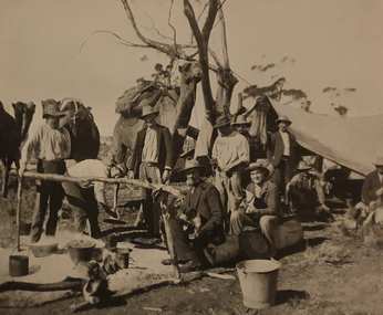 Photograph, Workers on the Transcontinental Railway, c1905