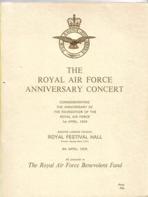 Program:, Program: RAF anniversary Concert 1979