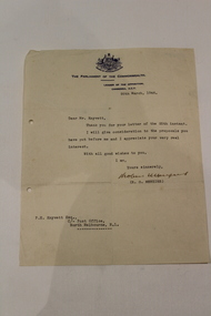 Parliamentary letter, Unknown