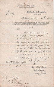 Document - License to thin trees, 1899 (Exact)