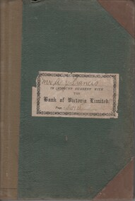Financial record - Book, Mr A J Francis in Account Current With The Bank of Victoria Limited, 1925