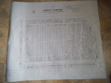 Carlyle Cemetery Map, Plan of Presbyterian Compartment, 1952
