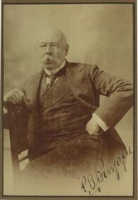 Photograph - Portrait of P B Burgoyne, c1900