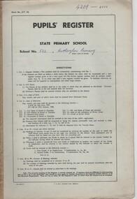 Document - School Records - Register, Pupils' Register. State Primary School. School No. 522, Rutherglen Primary, 1977-1980