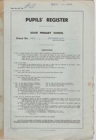 Document - School Records - Register, Pupils' Register. State Primary School. School No. 522, Rutherglen, 1981-1984