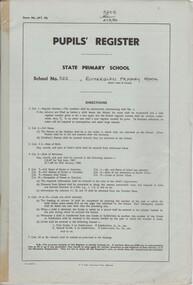 Document - School Records - Register, Pupils' Register. State Primary School. School No. 522, Rutherglen, 1996-1997