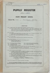 Document - School Records - Register, Pupils' Register. State Primary School. School No. 522, Rutherglen Primary, 1984-1990
