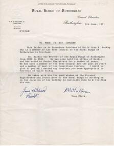 Letter, 1971
