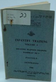 Book, Pistols, Infantry Training, 1966