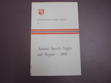 WHS Speech Night Pamphlet, 1969