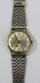 Men's 'Baronex' analogue, stainless steel wrist watch