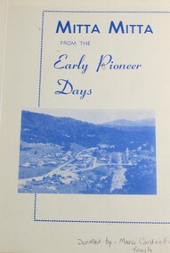 Book, S.A. Colquhoun, Mitta Mitta from the Early Pioneer Days, 1972