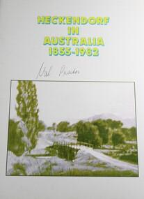 Book, Heckendorf in Australia 1855 - 1982, 1982